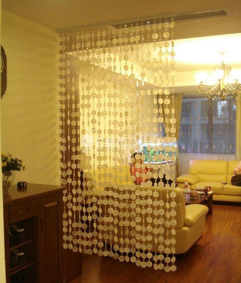 More Views Natural Shell Crystal Bead Hanging Curtains