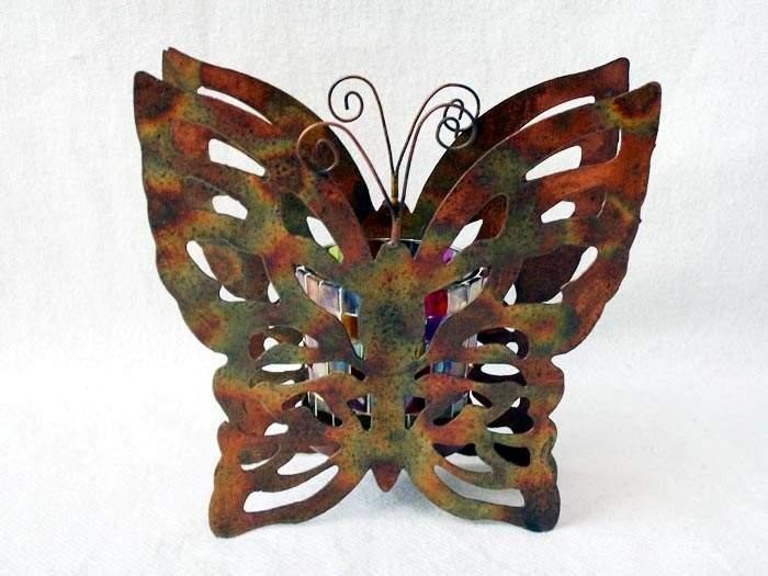 Butterfly Designed Votive Candle Holder