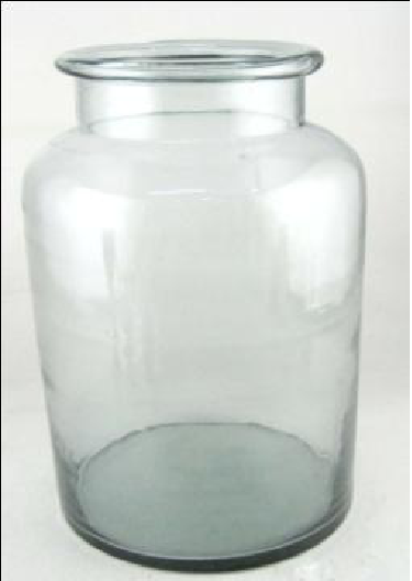 Clear Glass Vase Candle Holder  20X20X36 cms