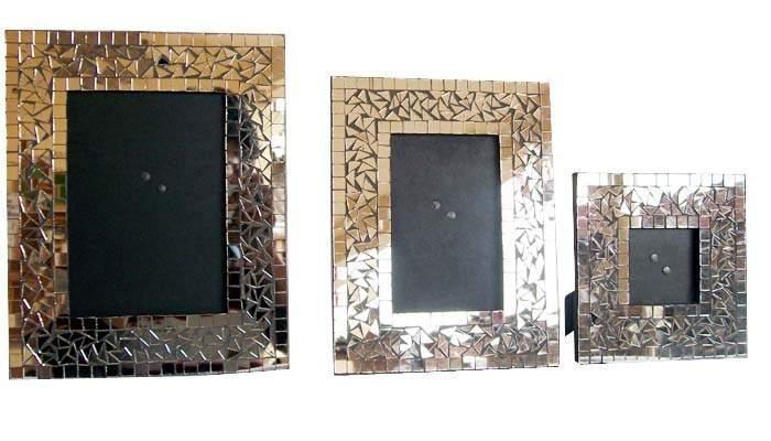 Antique Wooden Photo Frame 3 Piece Set