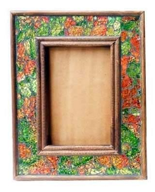 Mosaic Edge Wooden Photo Frame