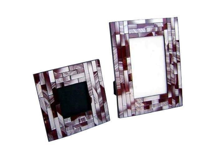 Mosaic Wooden Photo Frame Set