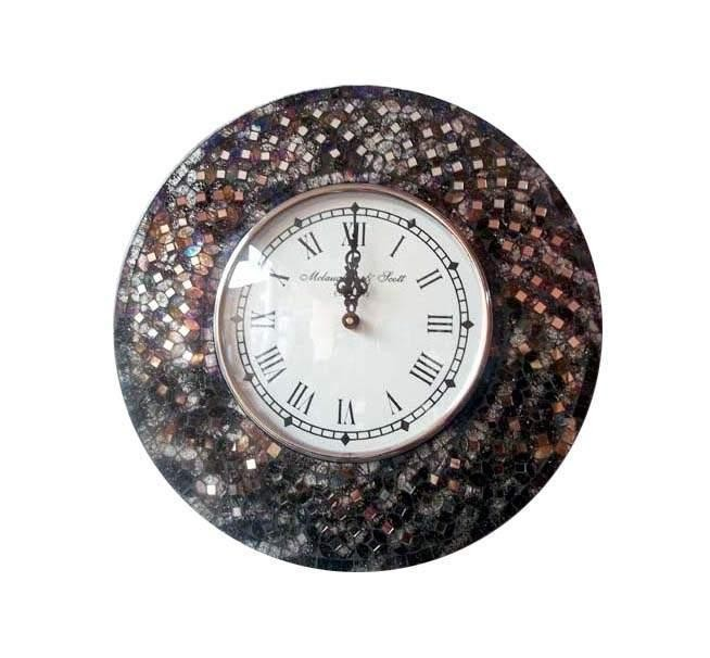 Crackle Glass Mosaic Wall Clock