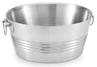 Round party tub horizontal lines finish