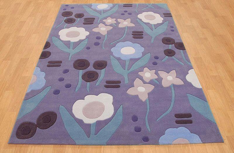 Floral Design Hand Tufted Carpet    Size- 8 X 12