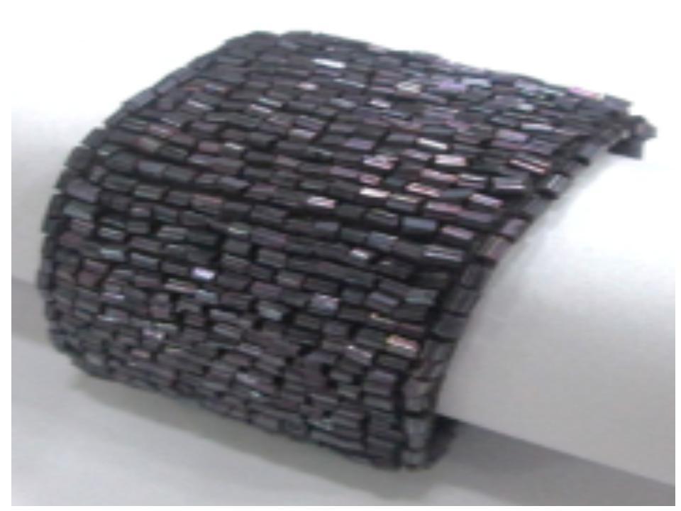 Dark purple beaded napkin ring