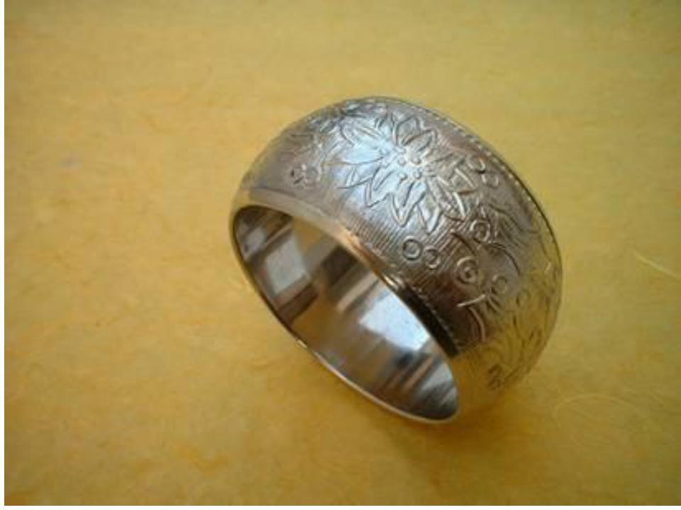 Embossed Metal Silver