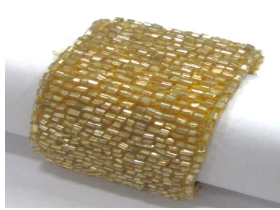 yellow tabular beaded napkin ring