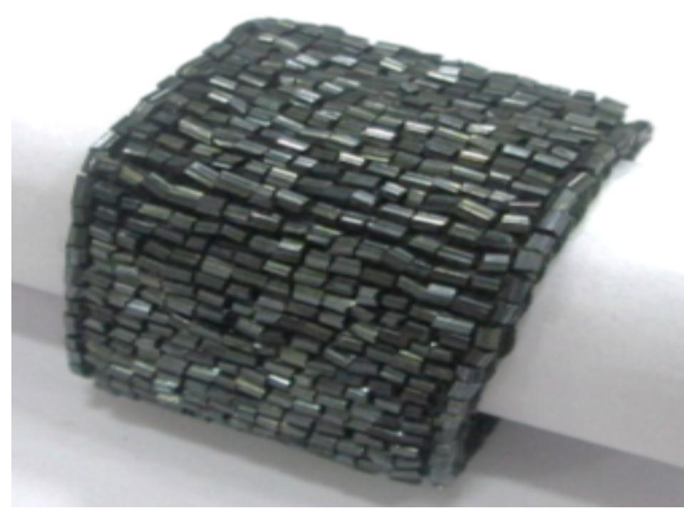 Black Tubular Beaded Napkin Rings,