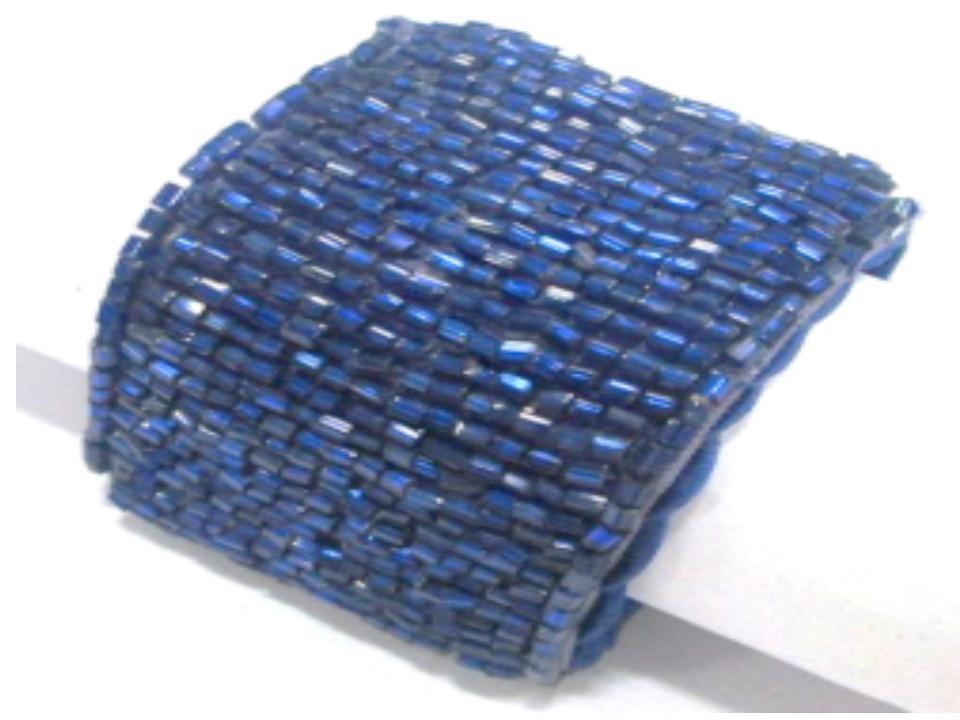 Blue colored tabular beaded napkin ring