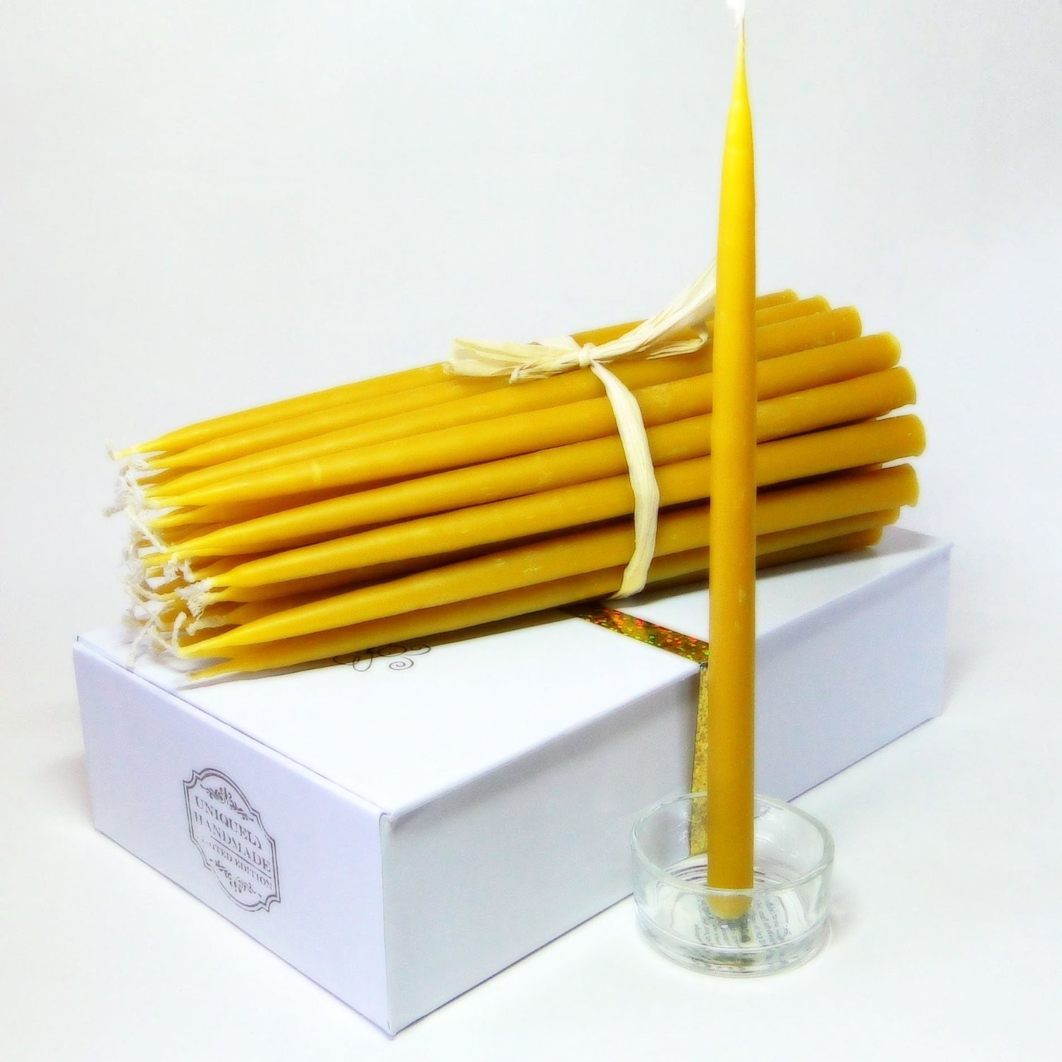 100% Beeswax 2-Hour Organic Candles Pack of 36 Pcs