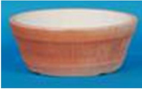 Terracotta Plastic Round Orange Bowl Planter
