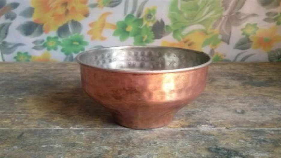 Metal Bowl  Size -  12x8.5 cms.