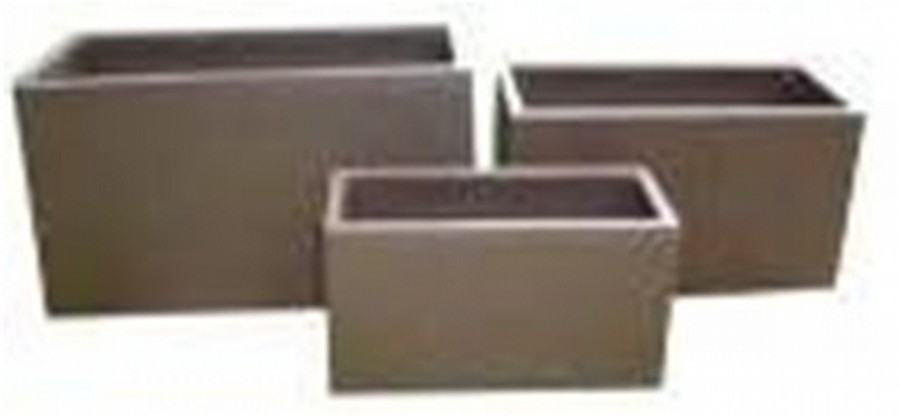 Matte Gold Medium Fiber Glass Rectangle Planter(Size 75 X 28 X 30 CM)