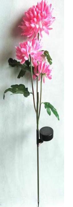 3 chrysanthemum-solar powered decoration garden flower light
