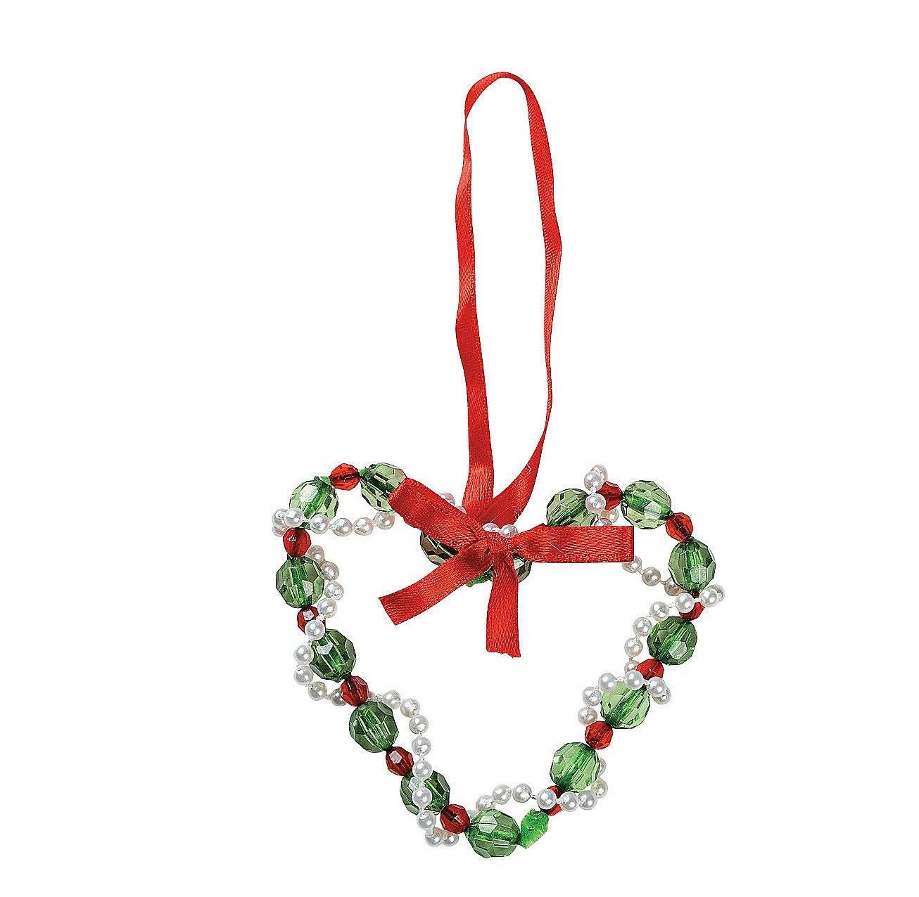 Mix Beads Heart Shaped Christmas Decor