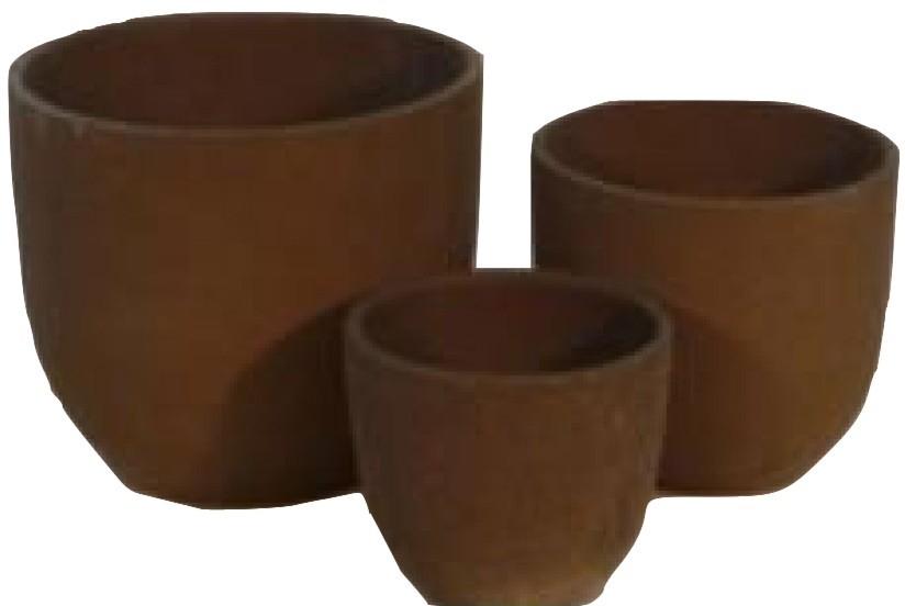 7'' Purple Sand Scratch Color Ceramic Pot