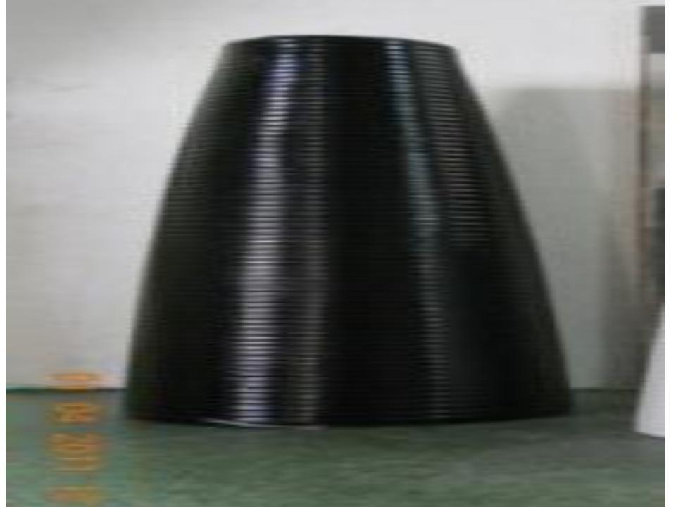 Black Seamless finish Fancy Fiberglass Vases
