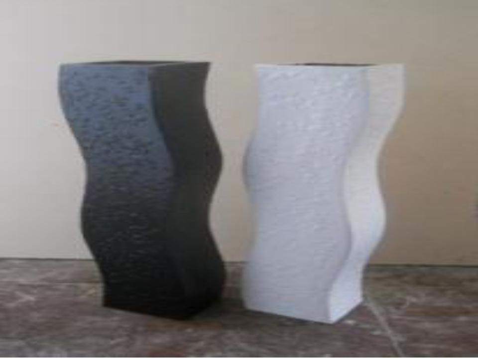 Curve design Modern Fiberglass Vases
