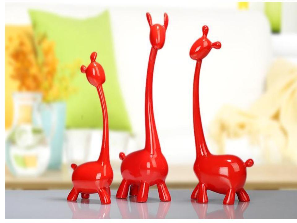 A set of cute deer resin Christmas gift (C)