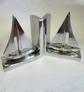 Aluminium Boat Bookends,  Size - 9X12x15 CM