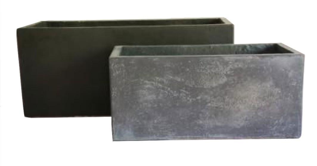 Anti-Grey Finish Rectangular Cement Planter