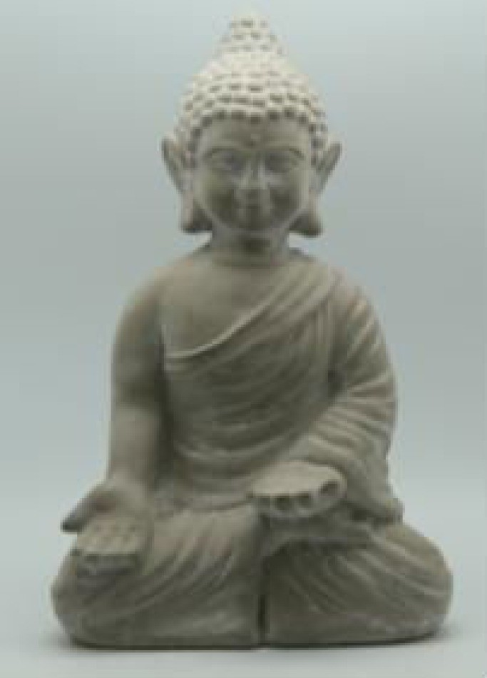 Antique Cement Buddha For Garden Decor