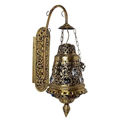 Antique Finish Brass Wall Light Chandelier