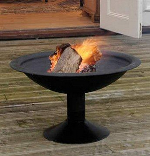 "Iron Heavy Bowl With Iron Joint Stand Fire Pit(H 30"" X D 34"" X B 20"")"