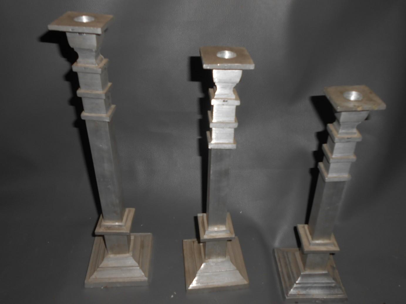 Block Aluminum Candle Stands