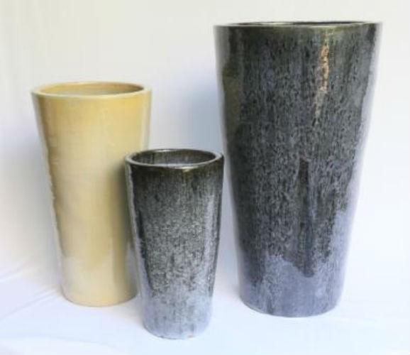 Blossom Black 90cm Ceramic Planter
