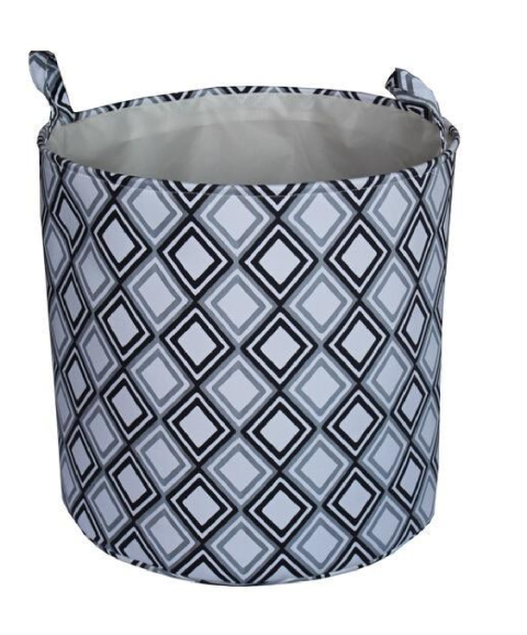 Blue Fabric Spiral Laundry Basket