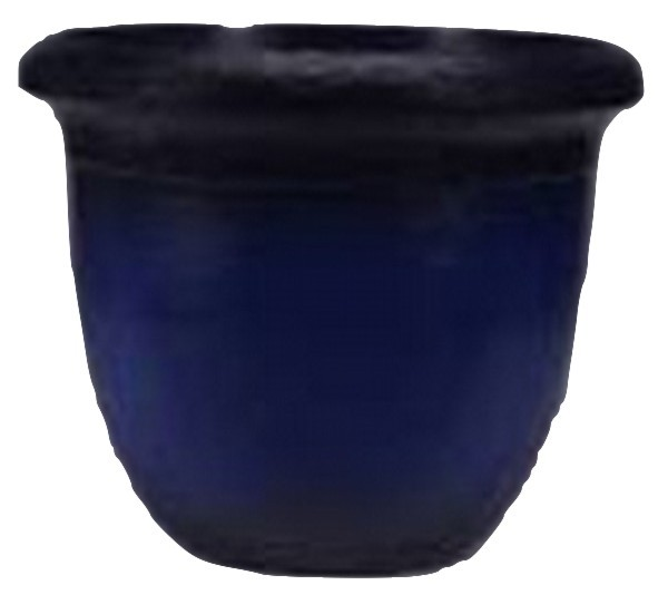 Blue Finish 15.5 Inch Height Plastic Planter