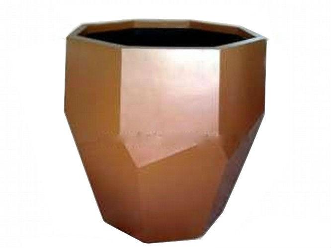 Bronze Hexagonal 38 Inch Fiberglass Planter