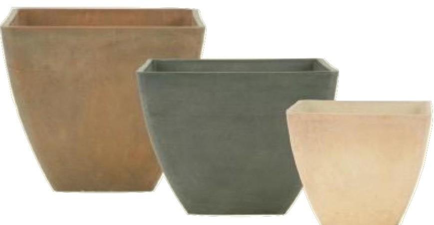 Black 18cm Height Stone Planters