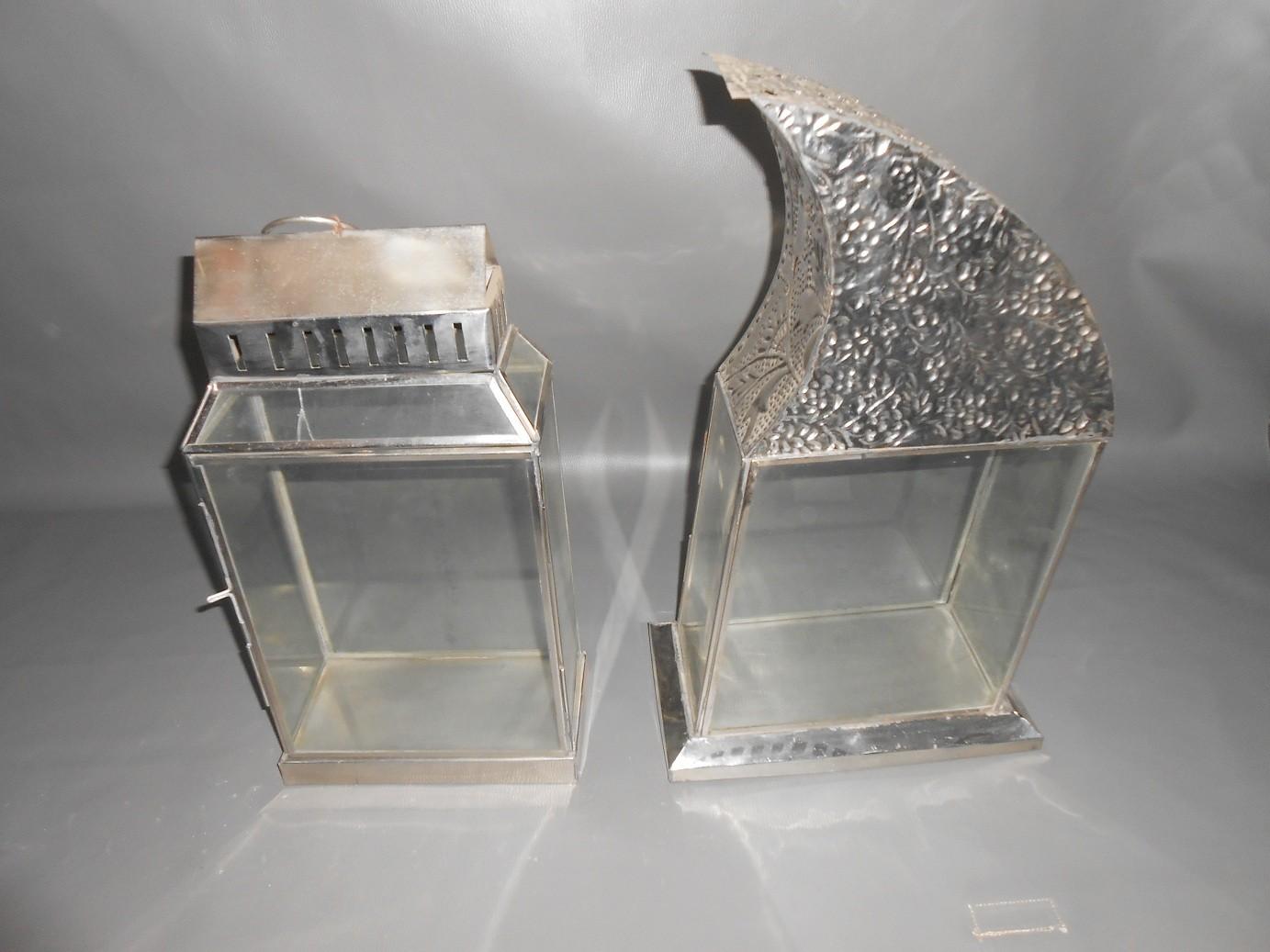 Caged Steel Lanterns