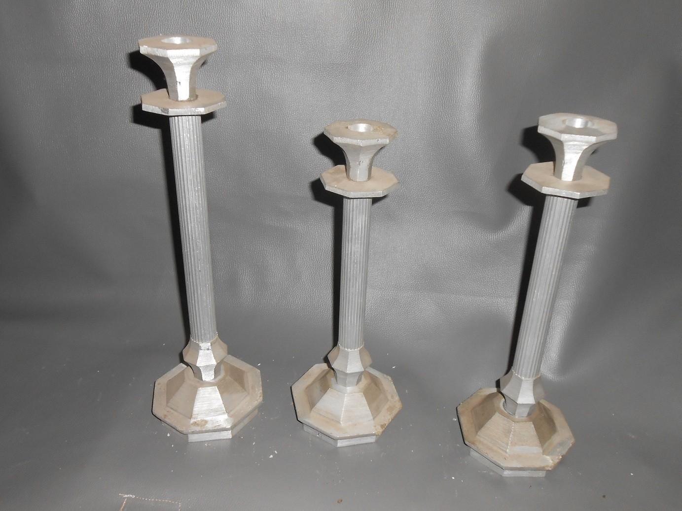 Cast Aluminum Candle Stands