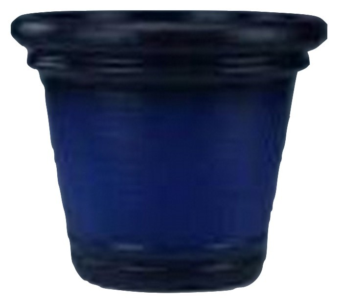 Classic Design Blue Finish 12 Inch Height Plastic Planter