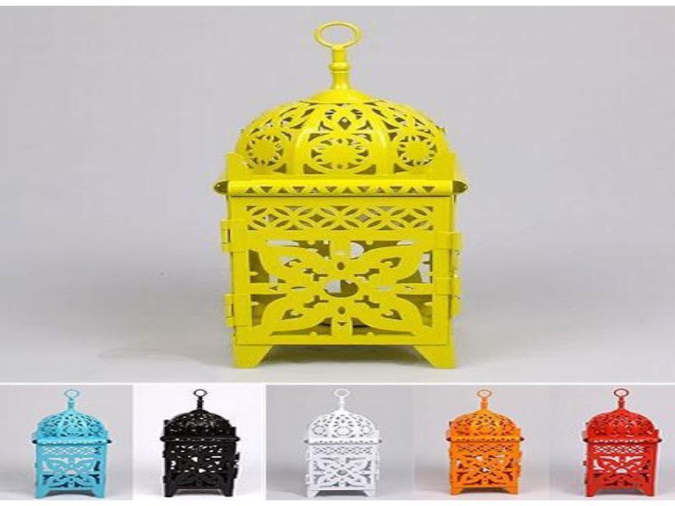 "Colored mini iron lantern size-8"""