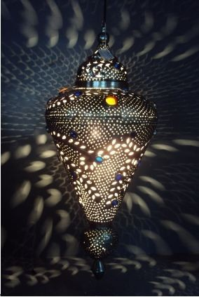 Cone shape Hanging  lamp  Size: 32X32X65 CM.