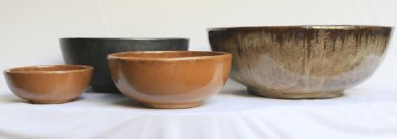 Copper Color Ht 12cm Ceramic Planter