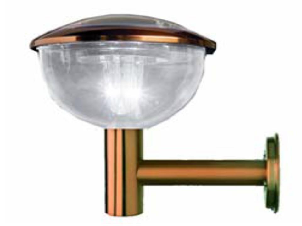 Copper colored Solar wall light