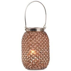 Copper Pineapple Glass Lantern