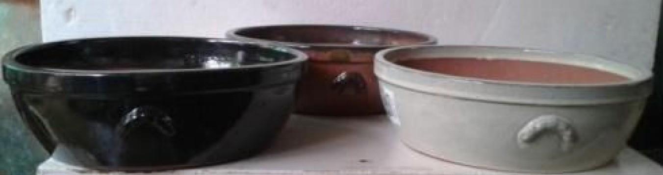 Cream Color Durable Glazed Ceramic Pot