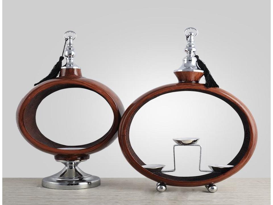 Creative resin circular candlestick