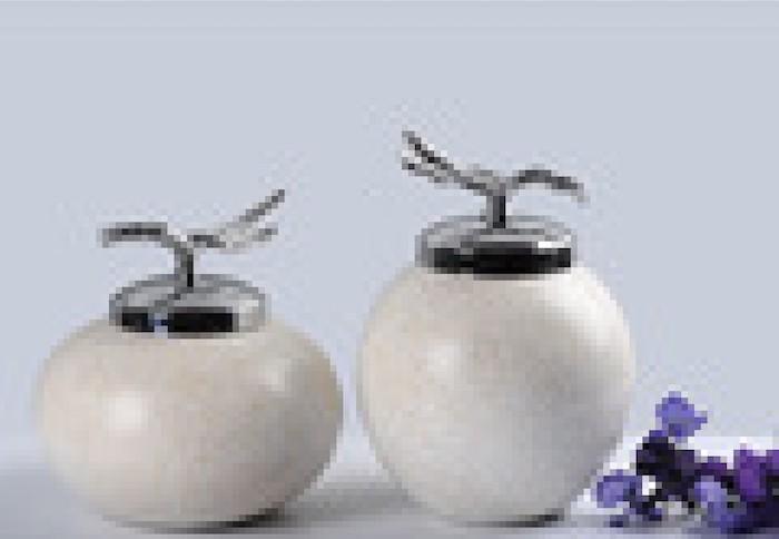 Creative silvery ceramic-pot ornaments