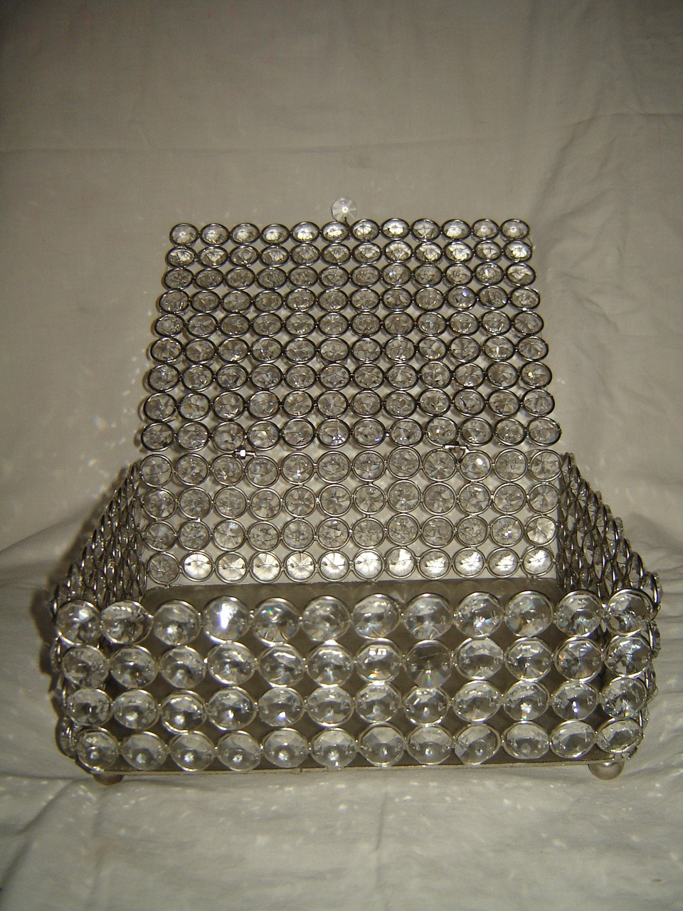 "10'' x 10"" Crystal Beads jewellery box"