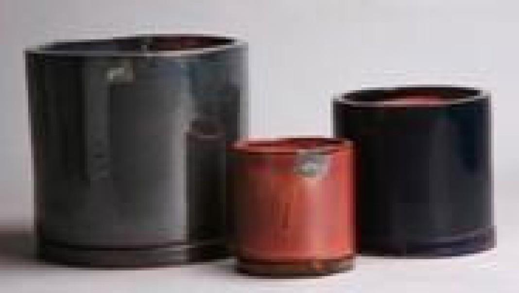 Cylindrical Shape Ht 7'' Ceramic Planter