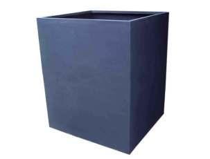 Cube Shaped 47 Inch Height Fiberglass Planter
