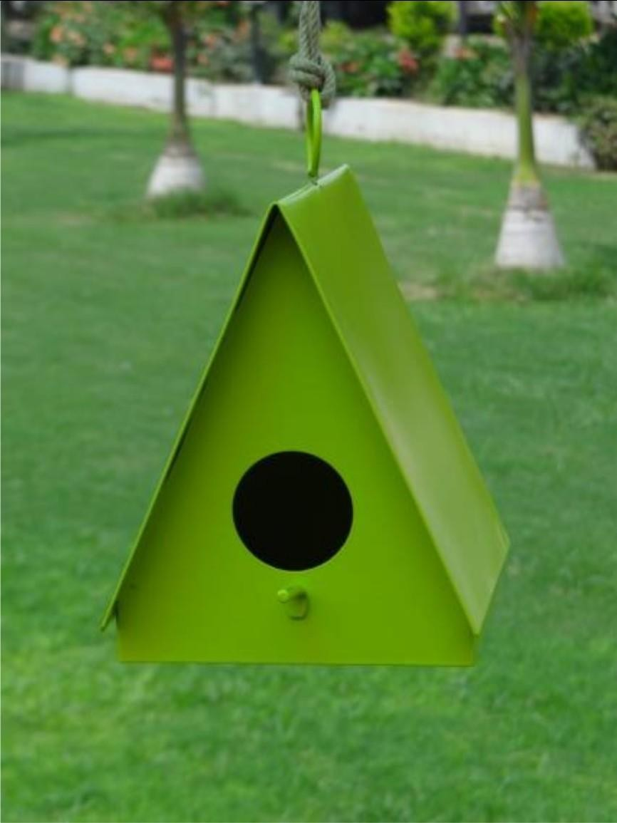 Green Metal Hanging Bird House